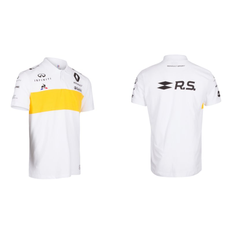 POLO BLANC HOMME F1